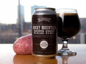 Rocky Mountain Oyster Stout - bulls balls beer