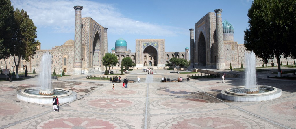 The Reigstan - Samarkand.  When you travel off the usual routes, you can find some hidden gems.