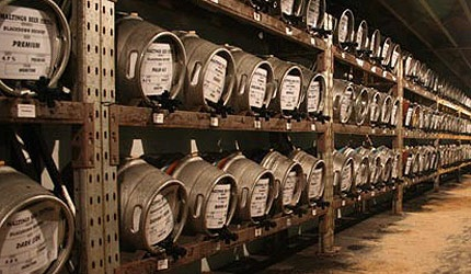 Kegs at the National Winter Ales Festival